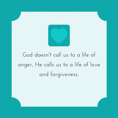 God doesn't call us to a life of anger, he calls us to a life of (3)